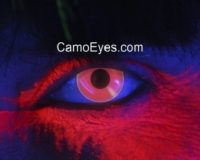 Red UV Glow Contacts