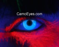 Blue UV Glowing Contacts