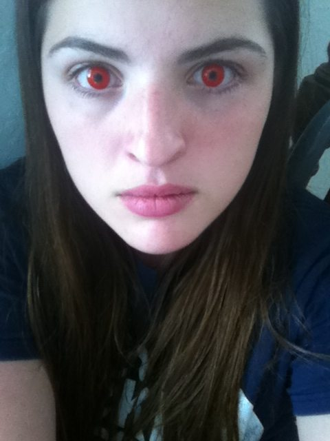 Red Contact Lenses Girl